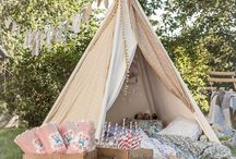 Glamping Wedding / It has become very popular to host a Glamping themed Wedding.