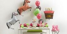 Pony Party / Ponies and Horses! We love them! Party Ideas for your Pony themed Party!