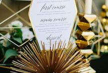Amazing Wedding Menu Ideas / Get your guests as excited as you are with incredible menus! It's all in the detail, as they say... -- www.gellifawr.co.uk