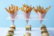 Quirky Wedding Food Ideas / Popcorn, mini burgers, chip cones, curry cauldrons - make your wedding stand out with fun and quirky food ideas! -- www.gellifawr.co.uk