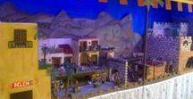 """El Belén de Eva y Quique 2016-17 y ARDUINO MEGA / Arduino Mega, utilizado para iluminar: casas, castillo, farolas, estrellas, efecto de aparición del ángel, los fuegos de chimeneas, de pastores, del horno. Crear los efectos de ambientes, amanecer, día, atardecer y noche. Además mover los motores de bombas de agua, para fuentes, ríos, norias. Y todo programado, sin """"Delay"""" y con """"Millis""""."""