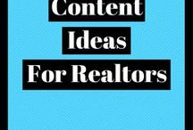 Content Ideas For Realtors / Real estate content marketing advice, including helpful infographics and articles all about how to get the most out of your content!