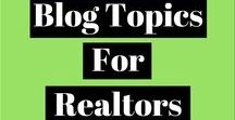 Blog Topics For Realtors - Real Estate Group Board / Real estate blog post topics and ideas.  This is a collaborative board-- realtors and bloggers, please feel free to share your own relevant evergreen blog posts.  NO LISTINGS.  Please email noelle@noellehartt.com if you'd like to join this board.