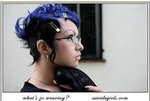 blue hair, no hair, oh yeah!