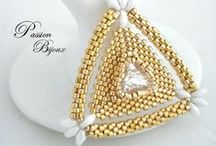B-did Pendant Triangles Stars and Geometrics / by I'm Loving Beads Nancy Gound