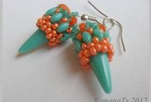 aB-did Earrings with shaped beads / by I'm Loving Beads Nancy Gound