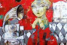 Artist - Rusudan Khizanishvili / Rududan Khizanishvili paintings / by Jeanne Medina