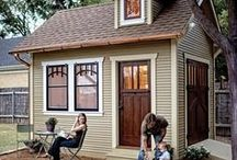 Garden shed / A shed is typically a simple, single-storey structure in a back garden, normally used for storage, hobbies, or as a workshop.