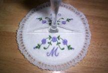 machine embroidery coasters & doillies