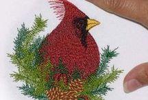 machine embroidery christmas