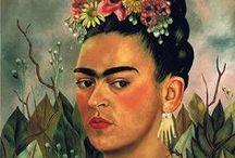 Artist - Frida Kahlo / Frida Kahlo paintings and photos of the artist / by Jeanne Medina