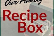 Family Recipe Box / Favorite family recipes from 3 generations shared on PeaceOfMyDay.com
