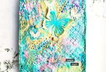 Art | Mixed Media / Inspiration in Mixed Media | Artworks | Creative Ideas | on Canvas | Notebook Covers | Art Journal Pages | Tags | Altered Objects | Texture | Tutorials | Tips and Tricks | Supplies