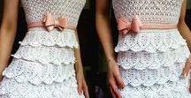 szydelkowe sukienki,spódnice,szorty