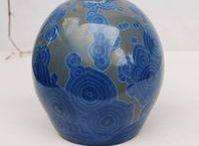 Crystalline pottery vases and bottles , decorative porcelain and stoneware vases, home decor. / #potteryfineart #decorativevase #crystallinepottery #crystalceramic #homedecor #crystallineglaze #potteryandceramics