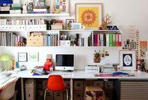 Studio Spaces / Studio, art studio, creative space , art studio, desk space, working from home idea, studio ideas,