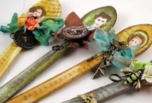 Altered Spoons / Spoons that have been artistically altered / by Becky Loyall