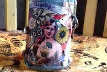 Altered Bottles / Artistically altered and recycled bottles / by Becky Loyall