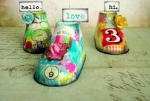 Altered Shoes / Artistically Altered Shoes / by Becky Loyall