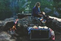 GET OUTDOORS / camping swag and cool places.