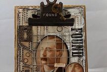 Altered Clipboards and Mousetraps / Clip boards altered in mixed media tradition / by Becky Loyall