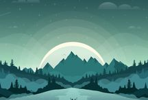 Design - Vector Landscapes / Vector graphics rendered together to make stunning landscapes and scenic views.
