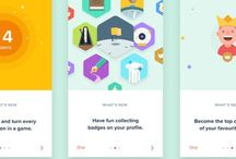 UX/ UI - Onboarding Process / It's important to start your app with a conceptual walkthrough of the features of the app.