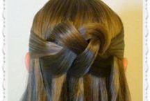 Half Up Hairstyles / The best half up hairstyles.  Braids, twists, knots, half up half down hair styles.