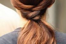 Ponytail Hairstyles / The best ponytail hairstyles. Braids, sporty hairstyles, side ponytails, low ponytails, high ponytails, top knots.