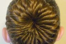 Bun Hairstyles / Updos, ballet buns, dance buns, top knots, chignons, messy buns, braided buns, easy buns, half up bun hairstyles, etc.