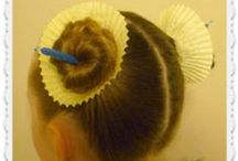 Crazy Hair Day Hairstyles / Hairstyle ideas for crazy hair day, holidays, or dress up.
