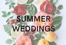 Summer Weddings / Fun, vibrant and bright colors. Outdoor wedding spaces. And the cutest Weddington Way dresses around!