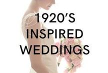1920's Inspired Weddings / Downtown Abbey and Great Gatsby Inspired wedding