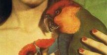 Donna con pappagallo nell'Arte ✿ / Donna con pappagallo nell'Arte ✿  https://catherinelarosepoesiaearte.blogspot.com/2017/02/donna-con-pappagallo-nellarte.html