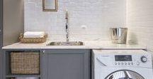 Laundry Room Ideas / Laundry room design ideas. Laundry room makeovers. Laundry room before and after.