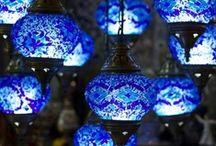 Indoor lanterns, some chandeliers too