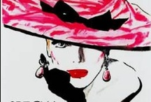 Fashion Illustrations and vintage magazine covers.