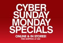Cyber Monday Deals 2014 / The shopping event that doesn't require leaving the couch is back! Check here for our hottest Cyber Sunday Monday Specials, plus receive free shipping with your $50 purchase.