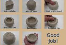 Clay, Sculpture, Cement, Hypertufa / by Liz Cranage