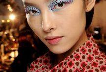 Creative Makeup / bright eyeshadow ✦ eyeliner ✦ graphic ✦ runway beauty ✦ makeup ✦ brows