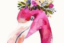 Inspiration feminin / Inspiration feminin, Grafikdesign, Watercolor, Illustration