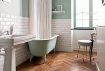 Interiors - bathrooms / Claw footed baths, victorian sinks and pretty tiles. / by Lou Archell | littlegreenshed