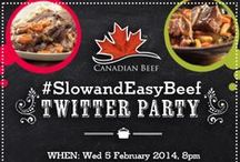 Slow And Easy Canadian Beef  / After some winter fun, take if SLOW with Canadian Beef, Campbell's, Hamilton Beach and Eat In Eat Out Magazine. Also join our twitter party on Wednesday February 5, 2013. For details click here http://twubs.com/SlowandEasyBeef