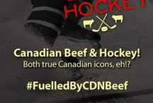 #FuelledbyCDNBeef / Canadian Beef and Canadian Hockey - both Canadian Icons