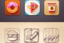 Food icons & vectors