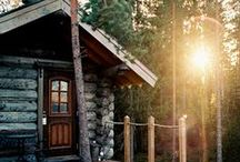 Cabin / I dream of a little log cabin in the woods. One day... / by Lou Archell | littlegreenshed
