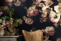 Interiors - Wallpaper / Floral, patterned or plain - wall paper love!