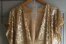 CLOTHES : SEQUINS SPARKLE / Sequins & sparkles are good to wear anytime of day!