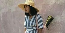 Wearing - Summer Style / Floaty dresses, basket bags, graphic tees... give me summer always