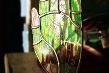 RavenHaylin Palmistry Suncatchers / Palmistry hands